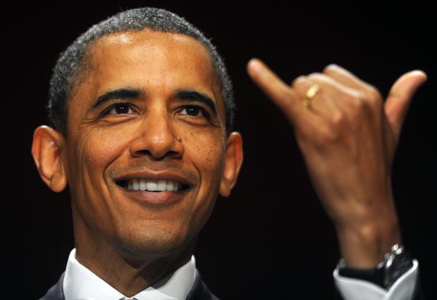 Obama's hand gestures